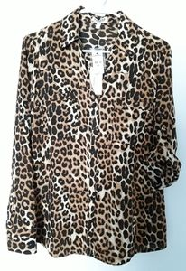 NWT Express leopard blouse